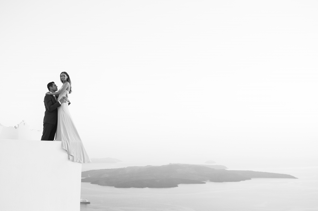 Elegant Wedding in Santorini Island - Cavo Ventus Private Villa Reception Venue