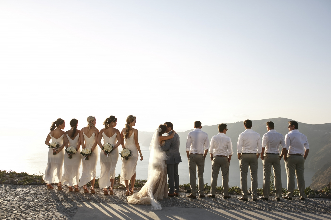 Civil Wedding at Santorini GEM - Reception at Ammoudi Fish Restaurant